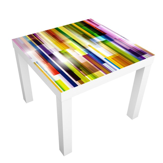 Möbelfolie für IKEA Lack - Klebefolie Rainbow Cubes