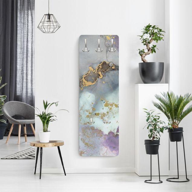 Garderobe - Farbexperimente Marmor Regenbogen und Gold