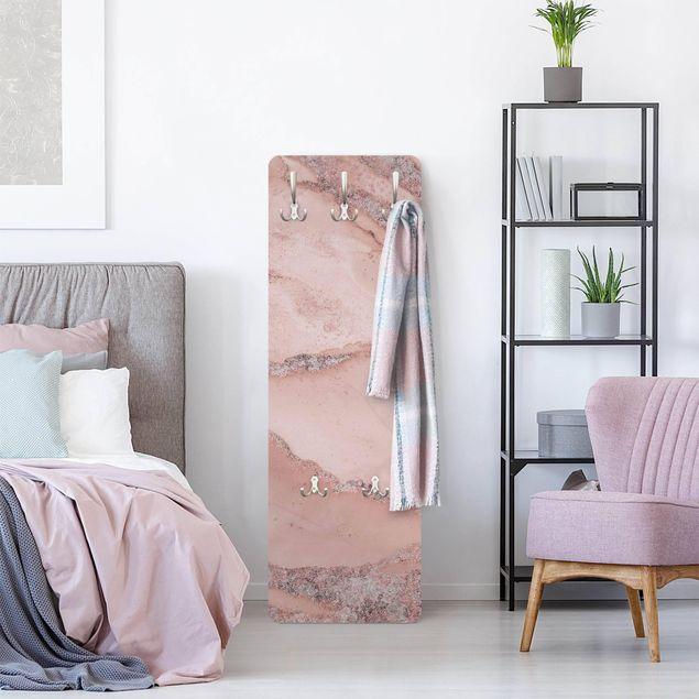 Garderobe - Farbexperimente Marmor Rose und Glitzer