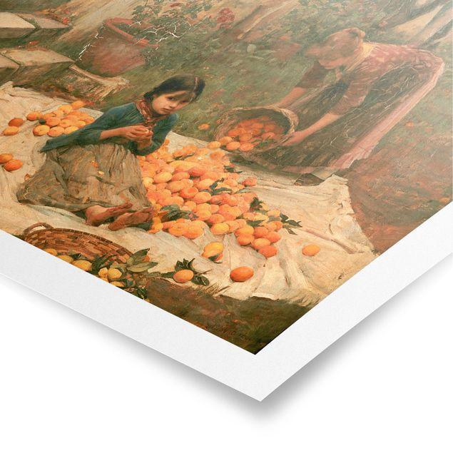 Poster - John William Waterhouse - Die Orangenpflücker - Hochformat 3:4