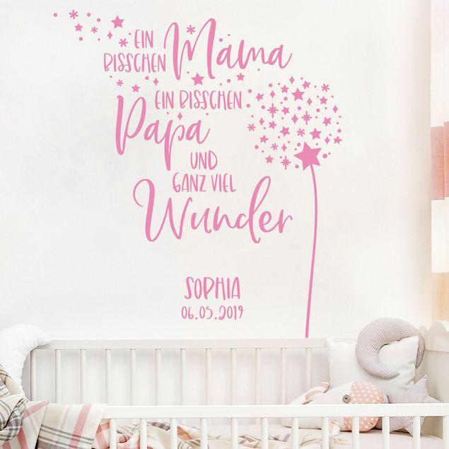 Wandtattoo mit Wunschtext - Ein bisschen Mama und Papa mit Wunschname