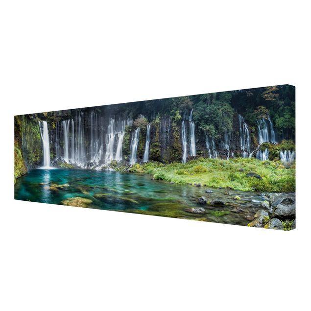 Leinwandbild - Shiraito Wasserfall - Panorama 3:1