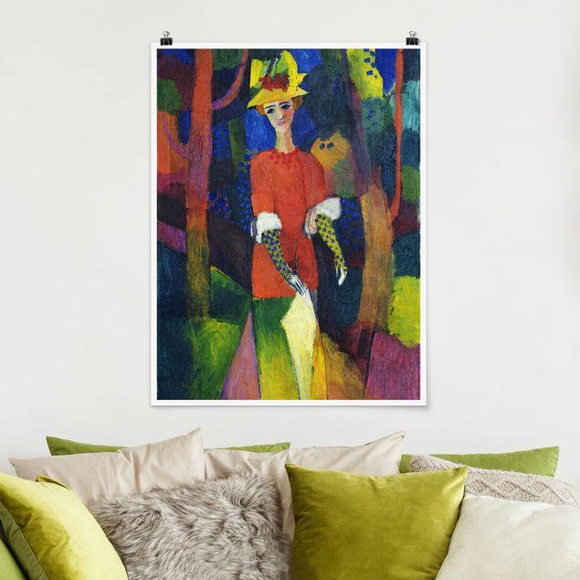 Poster - August Macke - Dame im Park - Hochformat 3:4