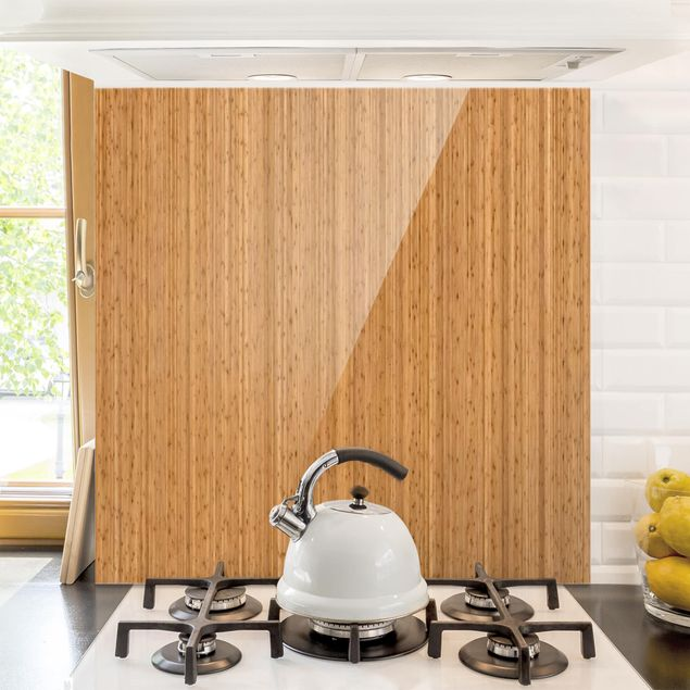 Glas Spritzschutz - Bambus - Quadrat - 1:1