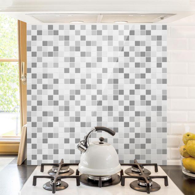 Glas Spritzschutz - Mosaikfliesen Winterset - Quadrat - 1:1