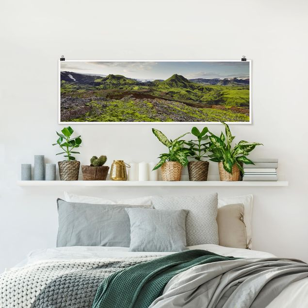 Poster - Rjupnafell Island - Panorama Querformat