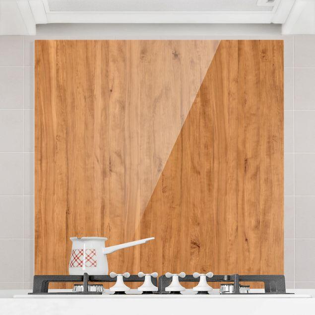 Glas Spritzschutz - Libanon Zeder - Quadrat - 1:1