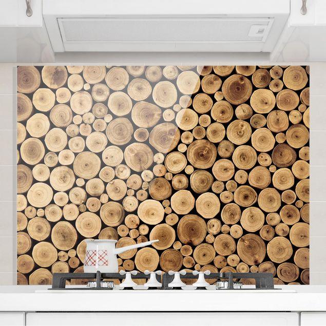 Glas Spritzschutz - Homey Firewood - Querformat - 4:3