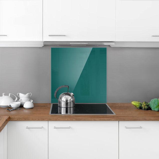 Glas Spritzschutz - Piniengrün - Quadrat - 1:1