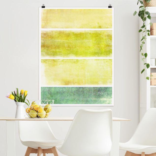 Poster - Colour Harmony Yellow - Hochformat 3:4