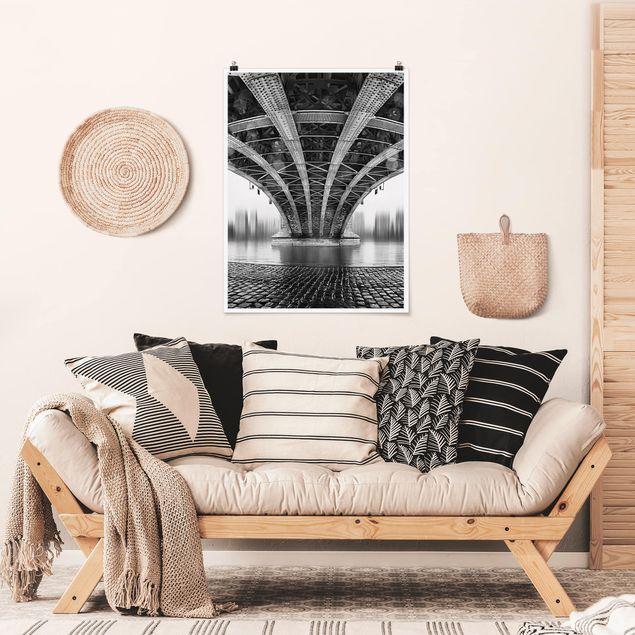 Poster - Under The Iron Bridge - Hochformat 3:4