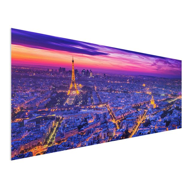 Forex Fine Art Print - Paris bei Nacht - Panorama