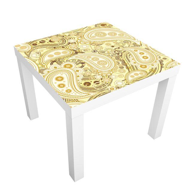 Möbelfolie für IKEA Lack - Klebefolie Retro Paisley