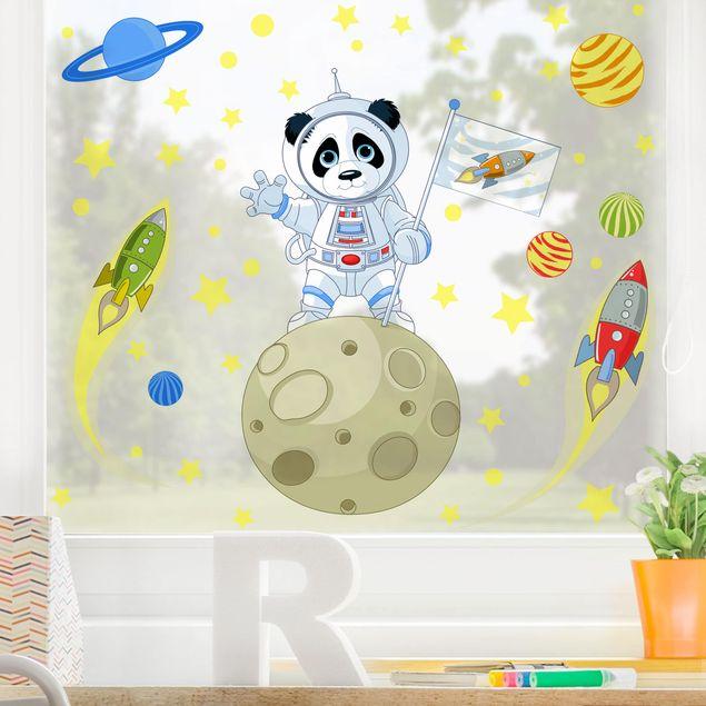 Fensterfolie Fenstersticker - Astronaut Panda