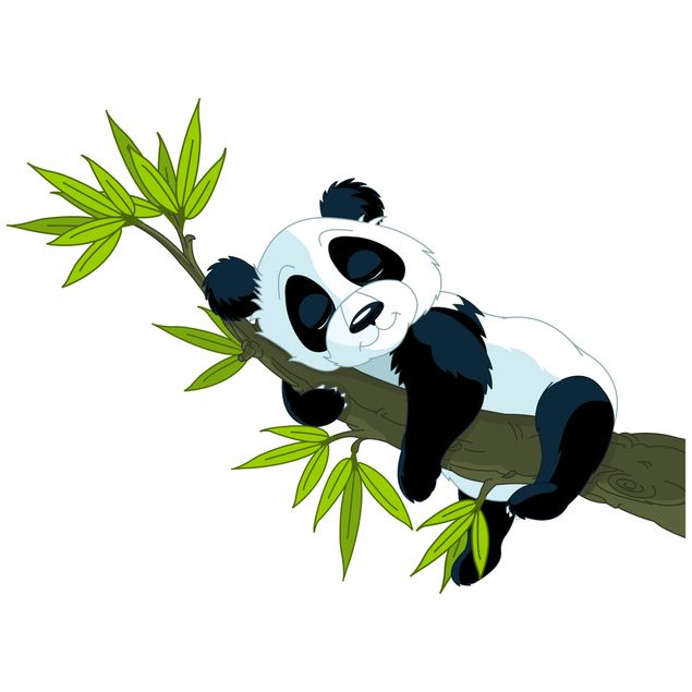 Fensterfolie - Fenstersticker - Schlafender Panda