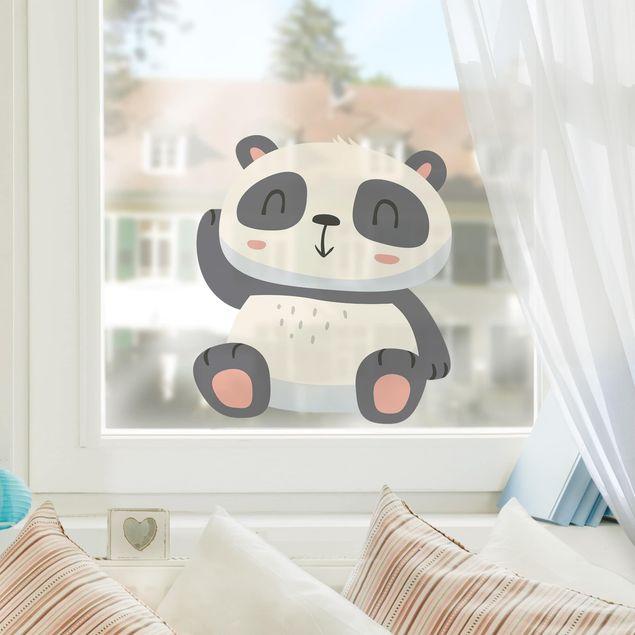 Fensterfolie Fenstersticker - Süßer Panda - Fensterbild