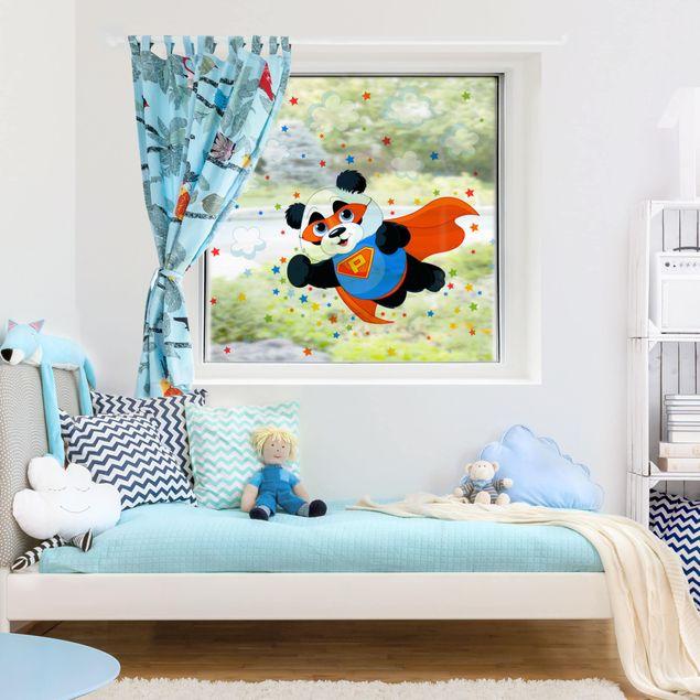 Fensterfolie Fenstersticker - Super Panda