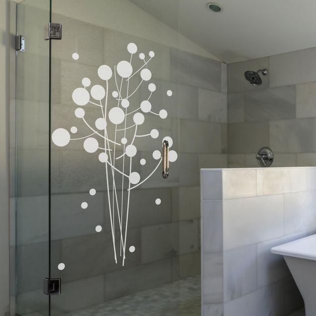 Fensterfolie - Fenstertattoo No.SF957 Artflower - Milchglasfolie