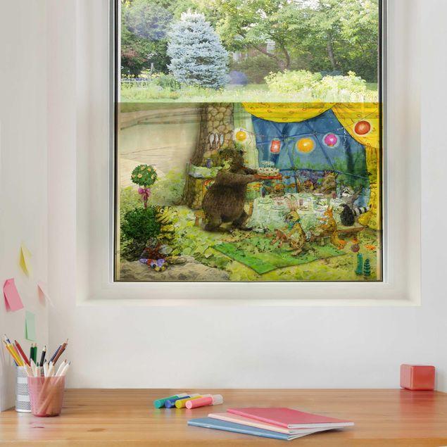 Fensterfolie Sichtschutz - Kleiner Tiger - Geburtstagsfeier - Fensterbild