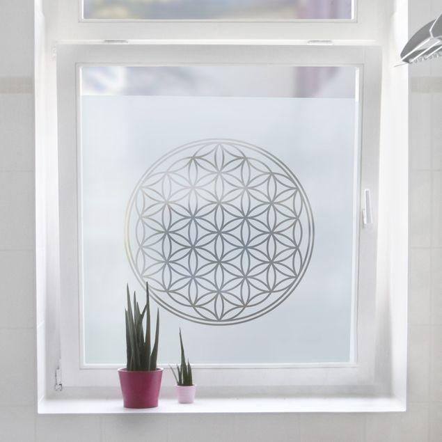 Fensterfolie - Sichtschutzfolie Blume des Lebens - Milchglasfolie