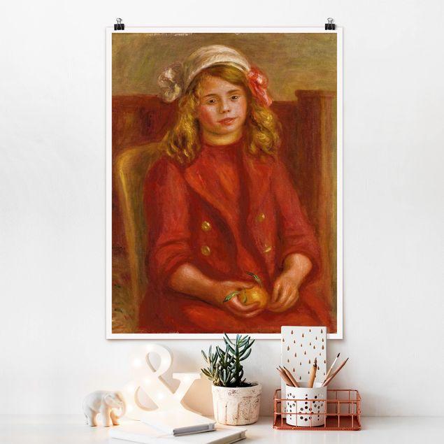 Poster - Auguste Renoir - Junges Mädchen mit Orange - Hochformat 3:4