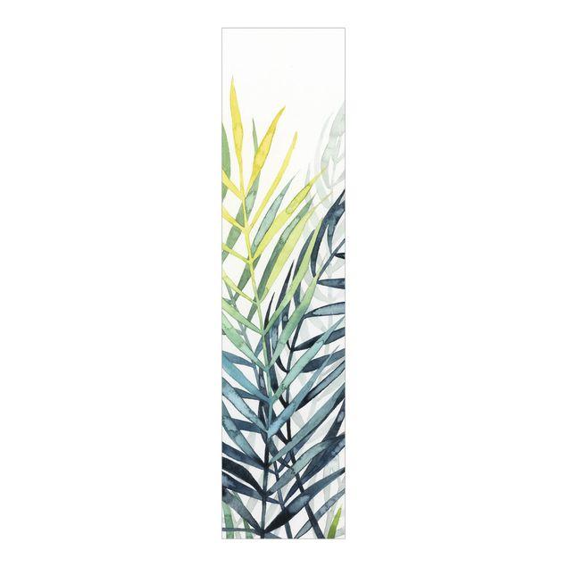 Schiebegardinen Set - Tropisches Blattwerk - Palme - Flächenvorhang