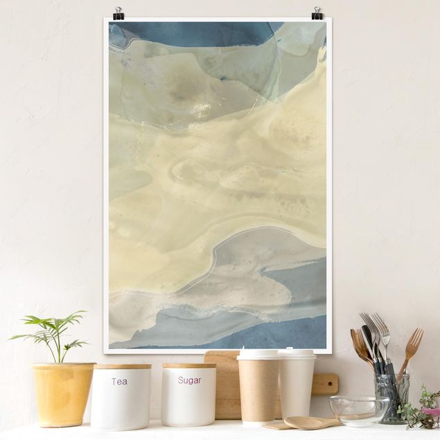 Poster - Ozean und Wüste I - Hochformat 3:2
