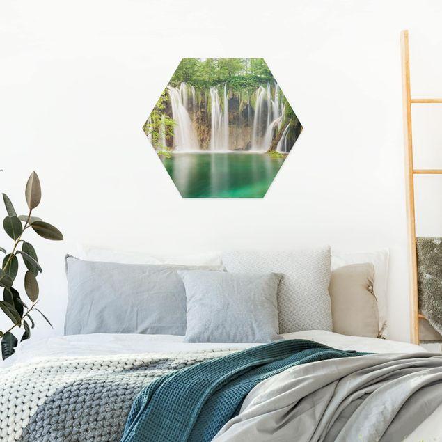 Hexagon Bild Forex - Wasserfall Plitvicer Seen
