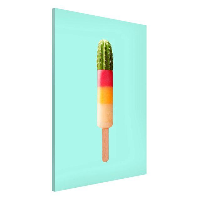 Magnettafel - Jonas Loose - Eis mit Kaktus - Memoboard Hochformat 3:2