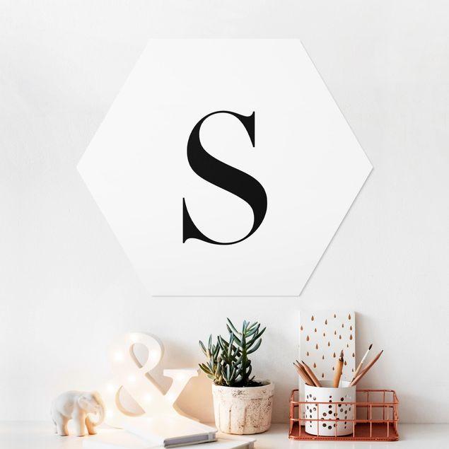 Hexagon Bild Forex - Buchstabe Serif Weiß S