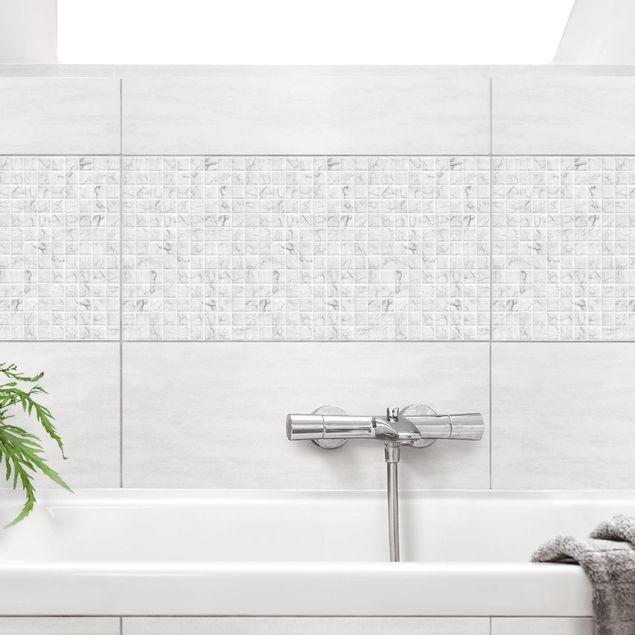 Fliesenaufkleber - Mosaikfliese Mamoroptik Bianco Carrara