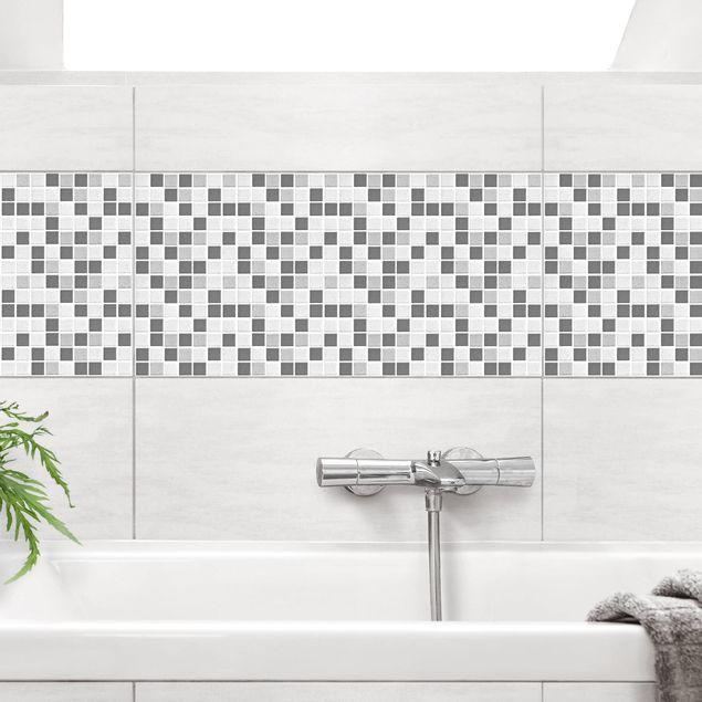 Fliesenaufkleber - Mosaikfliesen Grau