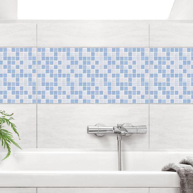 Fliesenaufkleber - Mosaikfliesen Hellblau