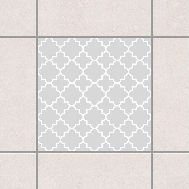 Fliesenaufkleber - Traditional Quatrefoil Light Grey Grau