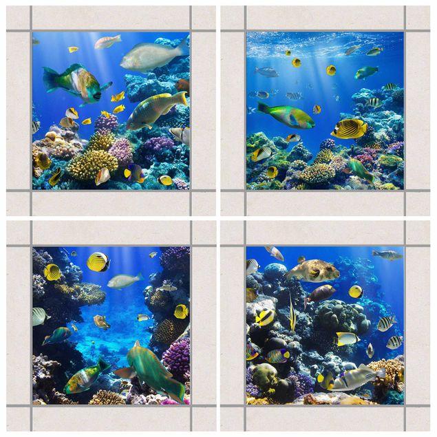 Fliesenaufkleber - Underwater Set