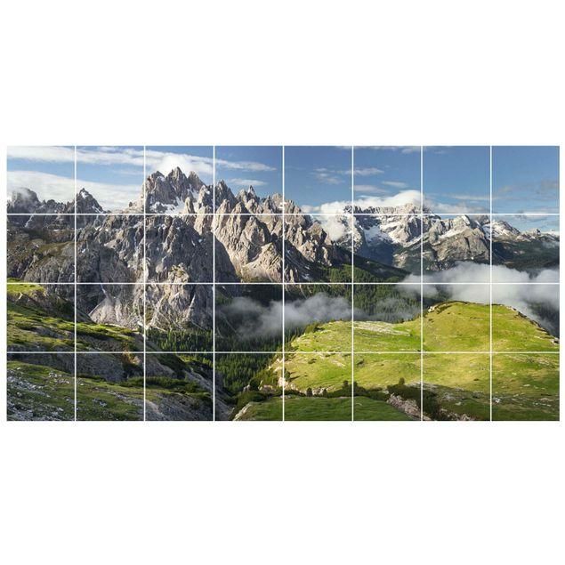 Fliesenbild - Italienische Alpen