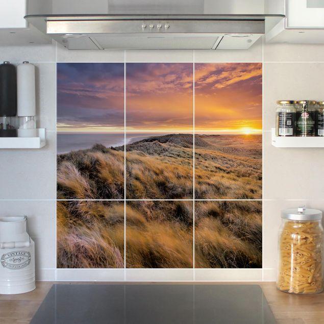Fliesenbild - Sonnenaufgang am Strand auf Sylt