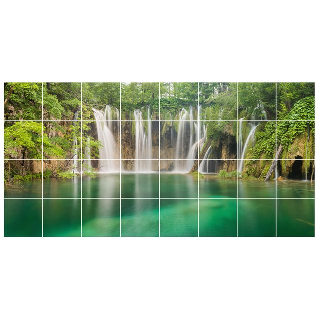 Fliesenbild - Wasserfall Plitvicer Seen