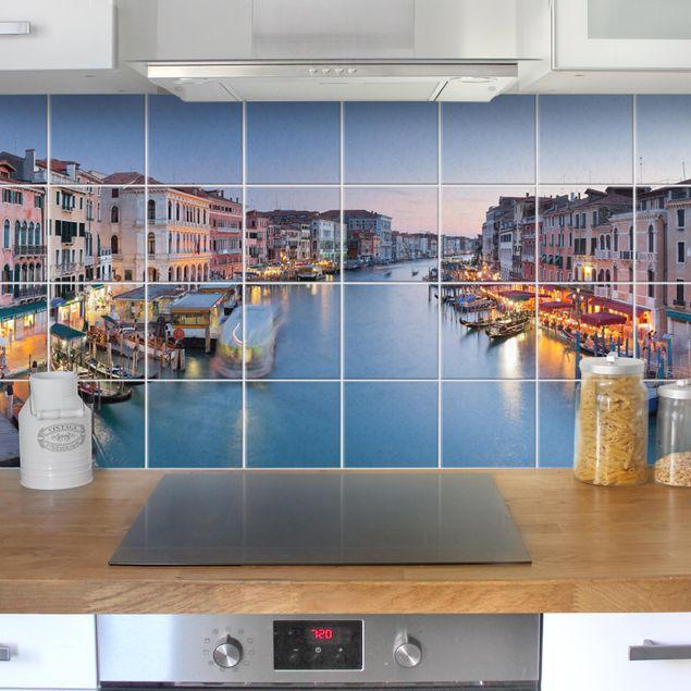 Fliesenbild - Abendstimmung auf Canal Grande in Venedig