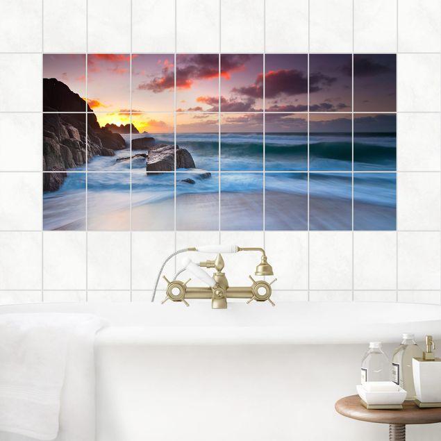 Fliesenbild - Am Meer in Cornwall