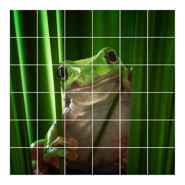 Fliesenbild - Fröhlicher Frosch