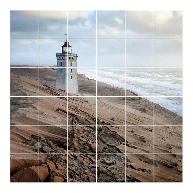 Fliesenbild - Leuchtturm in Dänemark