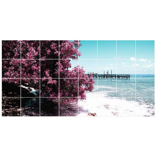 Fliesenbild - Paradies Strand Isla Mujeres