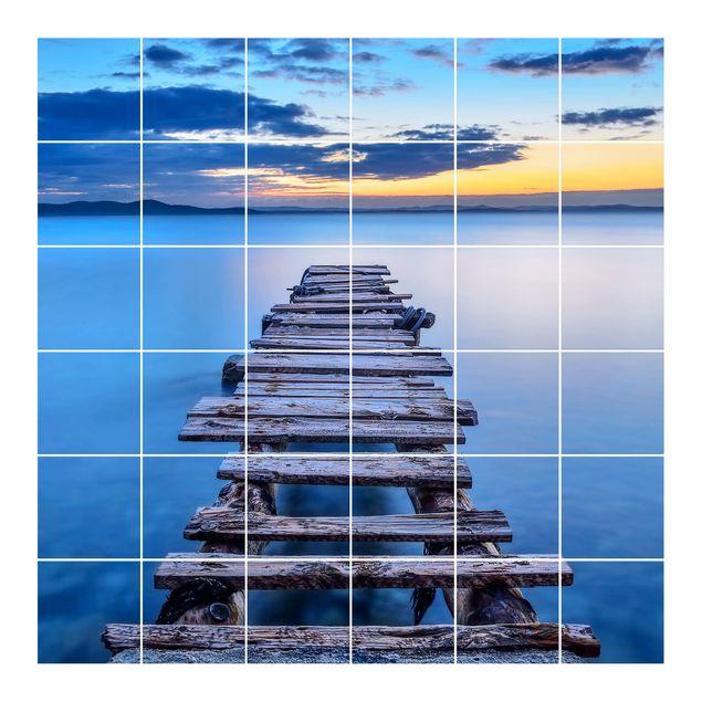 Fliesenbild - Steg ins ruhige Meer