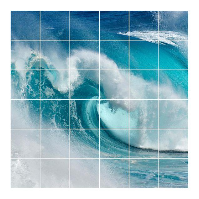 Fliesenbild - Tosende Wellen