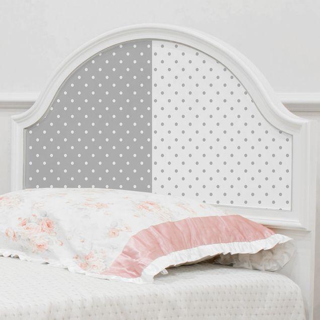 Folie für Möbel - Punktmuster Set in grau und weiss