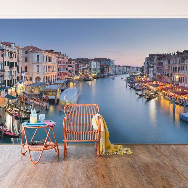 Fototapete Abendstimmung auf Canal Grande in Venedig