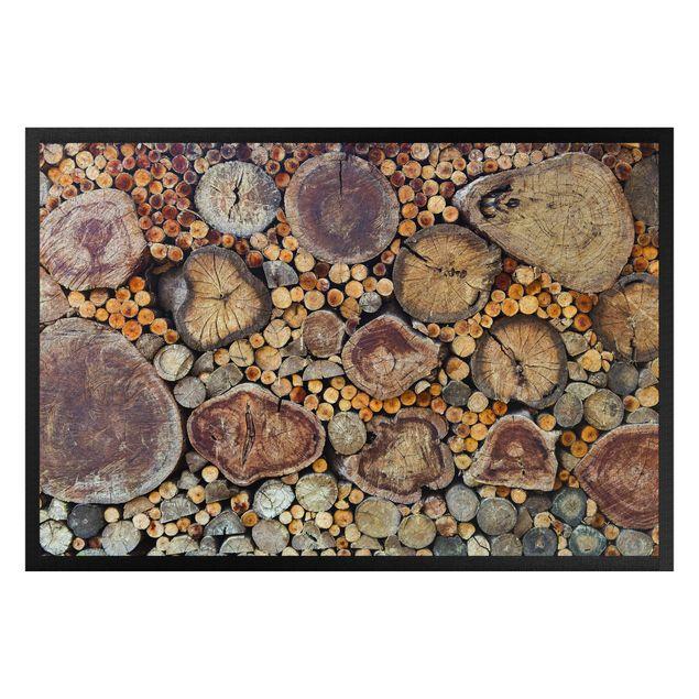 Fußmatte - Baumstämme Stammholz