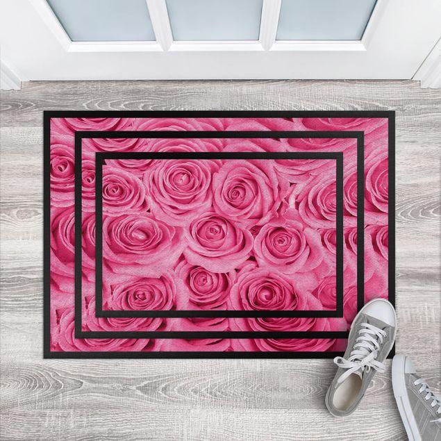 Fußmatte - Bed of pink roses