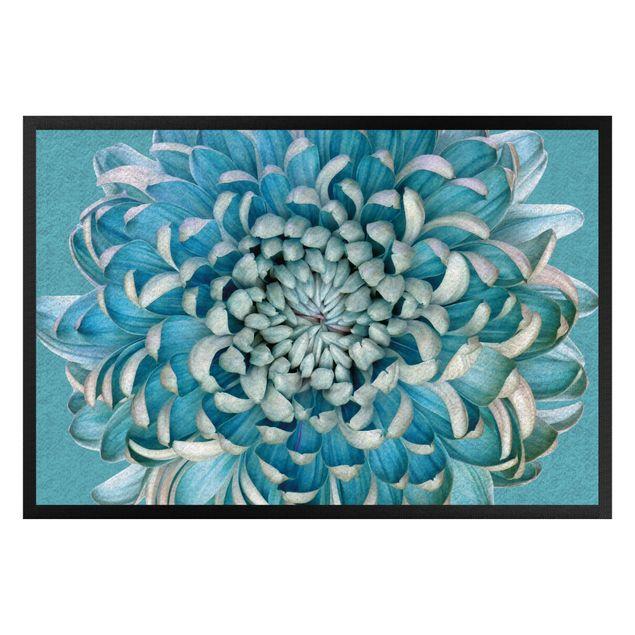 Fußmatte - Blaue Chrysantheme